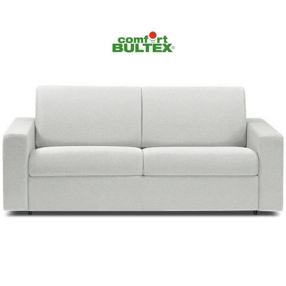 Inside 75 Canapé convertible rapido CRÉPUSCULE matelas 120cm comfort BULTEX® revêtement polyuréthane blanc