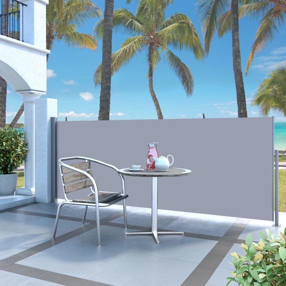 Vidaxl Auvent latéral rétractable 120 x 300 cm Blanc cassé - Pelouses et jardins - Vie en extérieur - Parasols et voiles d'ombr