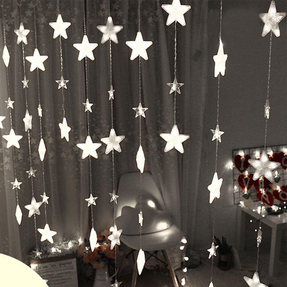 Generic Étoile rideau Lumières 40 étoiles lumières Fenêtre de lumières Branchez rideau cordes