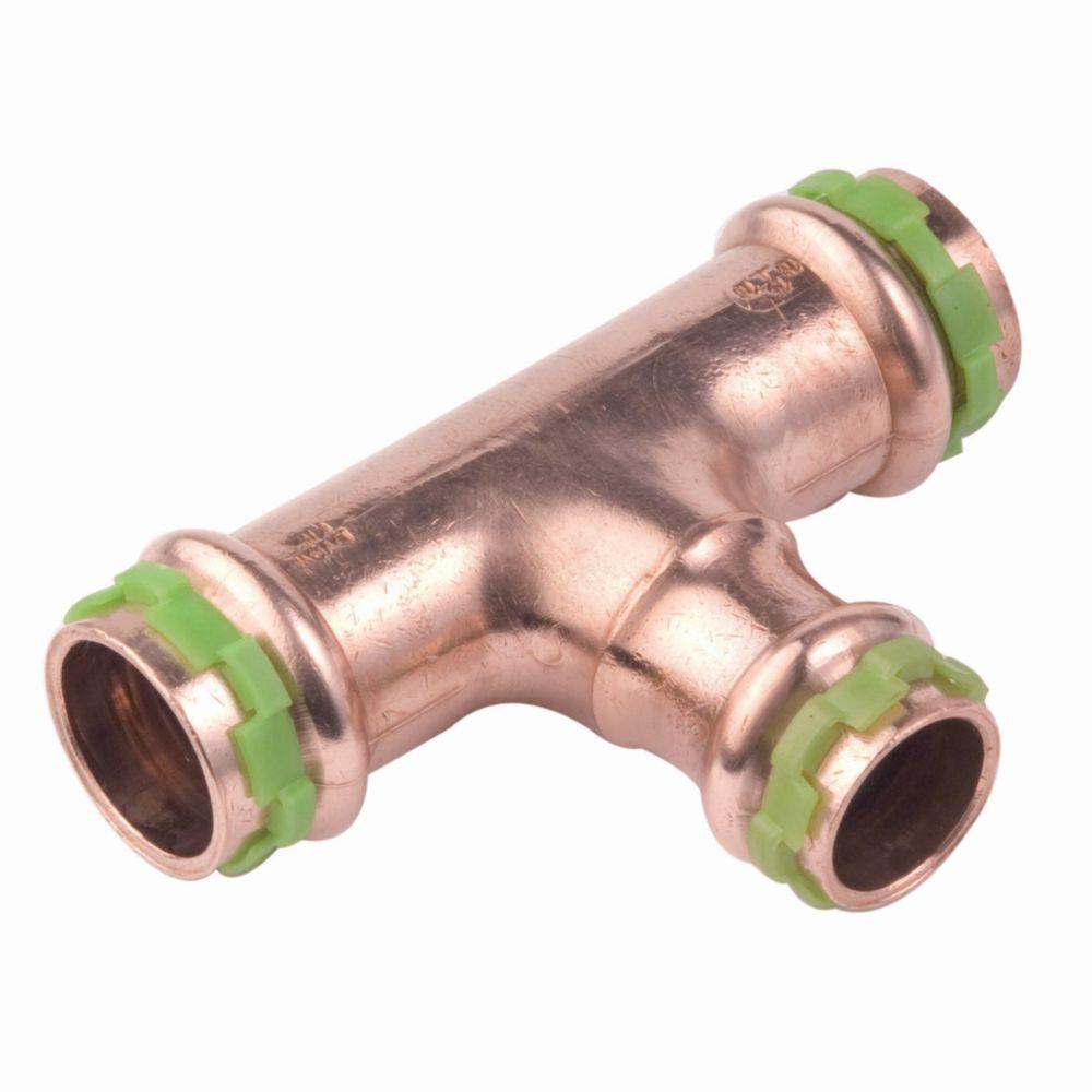 Comap té réduit à sertir - pour tube cuivre - diamètre 28 - 18 - 28 mm - comap 5130rvw281828