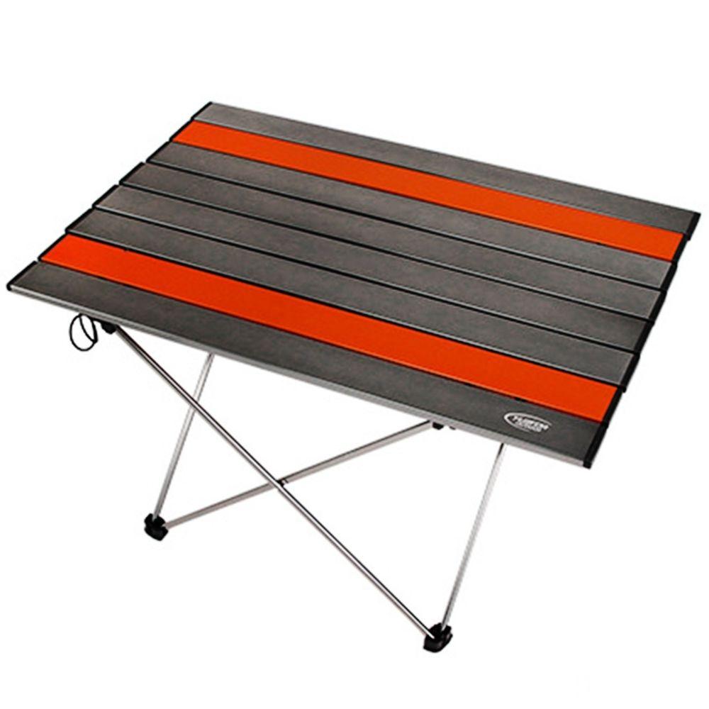 Wewoo Table de barbecue en aluminium de pique-nique d'aviation de camping de plein air Portable Taille L 68.5x46.5x40.5cm Gris