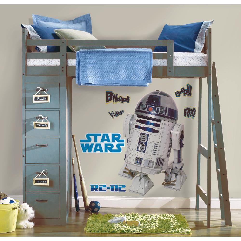 Mon Beau Tapis STAR WARS R2-D2 - Stickers repositionnables géants R2-D2, Star Wars 91x59