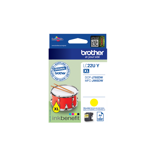 Brother - LC22UY - Cartouche d'encre Jaune - Brother