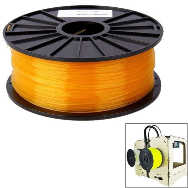 Imprimante 3D Wewoo Filaments d'imprimante 3D transparents PLA 3,0 mmenviron 115 m Orange