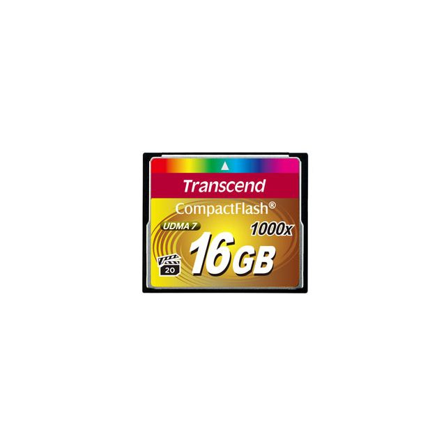 Transcend - Transcend CompactFlash Card 1000x 16GB mémoire flash 16 Go - Carte SD