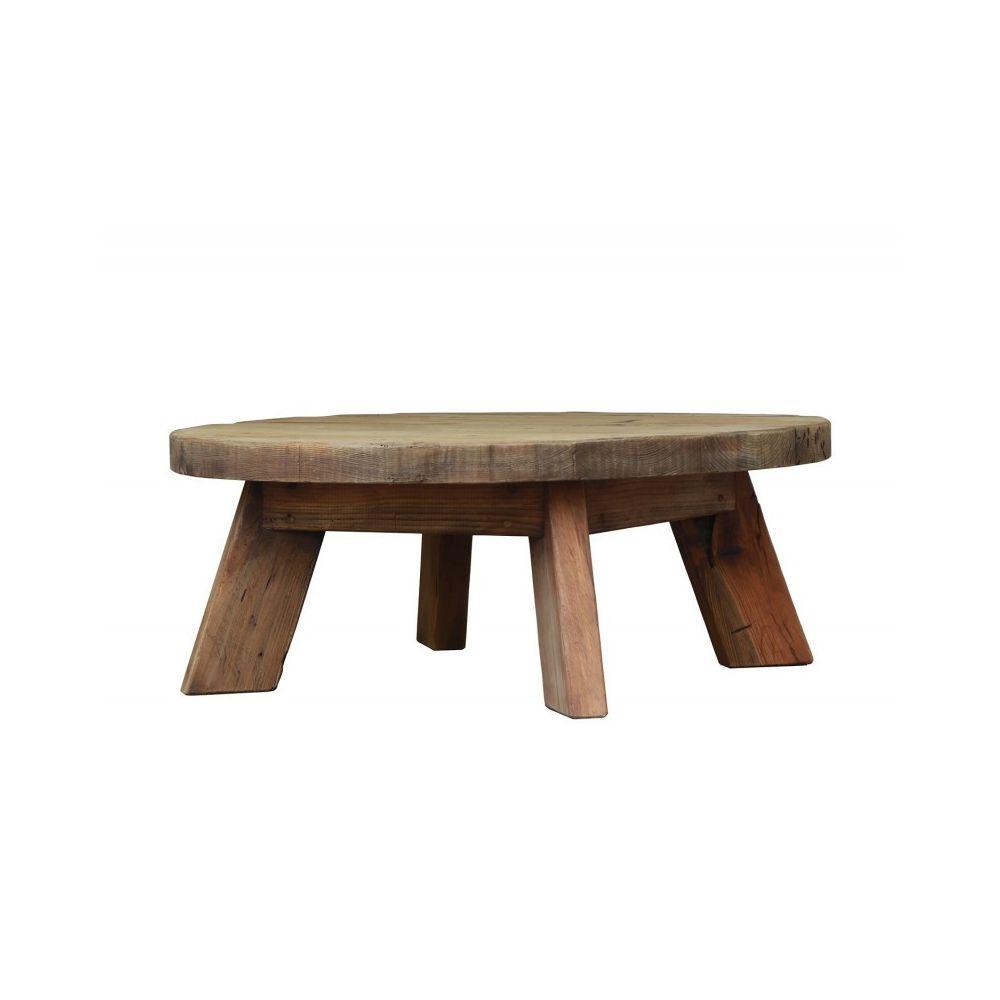 Meubletmoi Table basse ronde 90 cm - CHALET