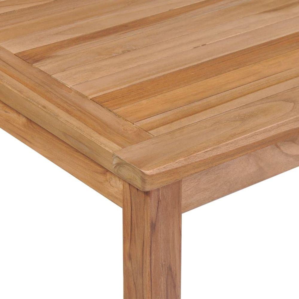 Vidaxl Table A Diner D Exterieur 200x100x77 Cm Bois Solide De Teck Brun Meubles De Jardin Tables D Exterieur Brun Brun Ensembles Canapes Et Fauteuils Rue Du Commerce