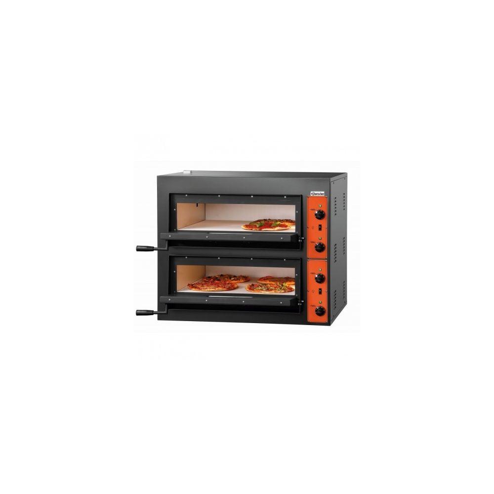 Bartscher Four à pizza double électrique - 4 + 4 pizzas pro - 8,4 kW - Bartscher -