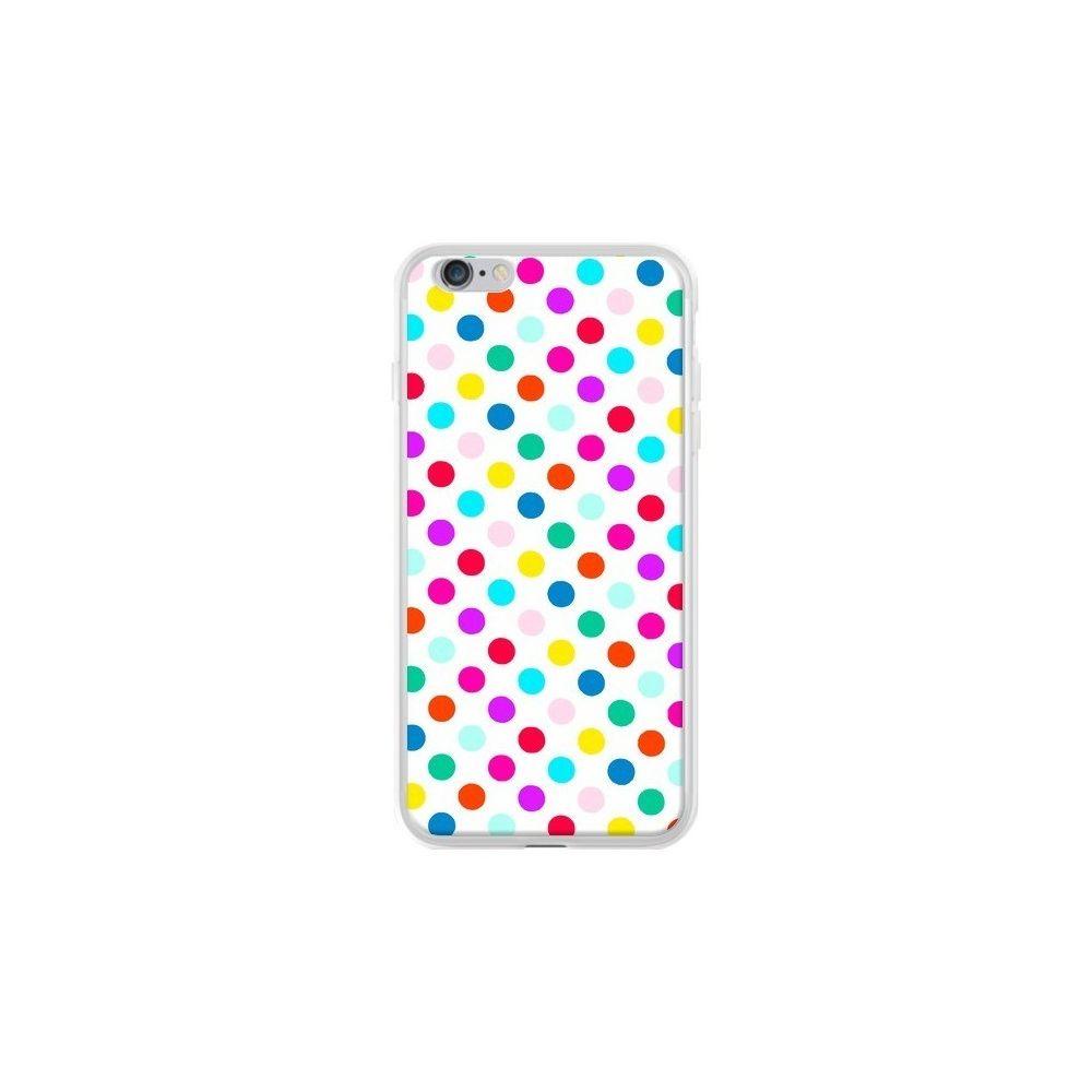 Apple - Coque iPhone 6 Plus et 6S Plus Pois Multicolores - Laetitia