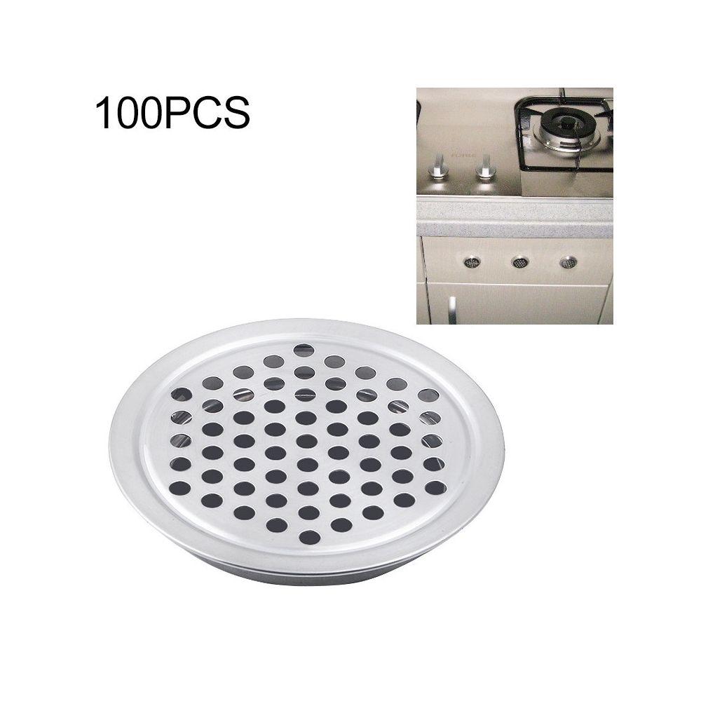 Wewoo 100 PCS 19mm Cabinet Surface Surface Ventilation Ronde Évent En Acier Inoxydable À Persiennes Grille Couvercle De avec P