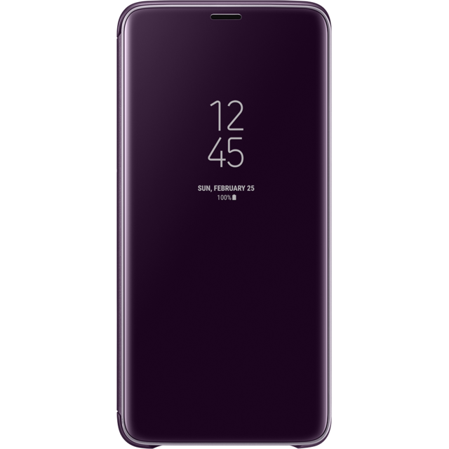 Samsung - Clear View Standing Cover Galaxy S9 Plus - Violet - Coque, étui smartphone