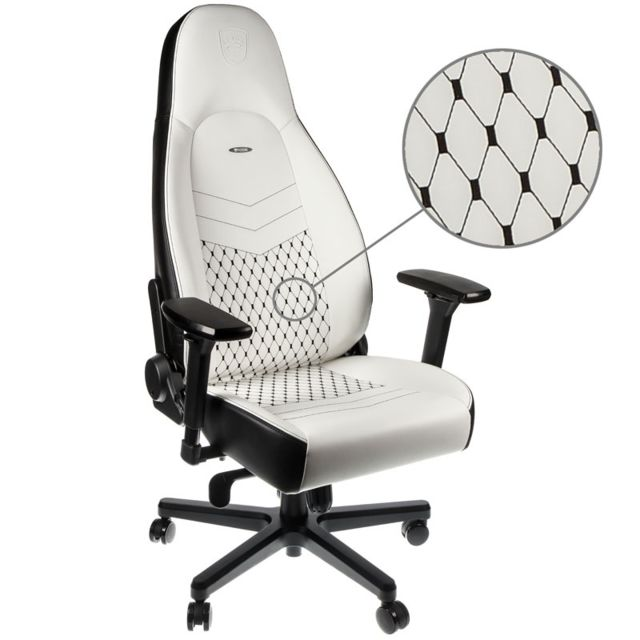 Noblechairs - ICON - Blanc/Noir - Chaise gamer