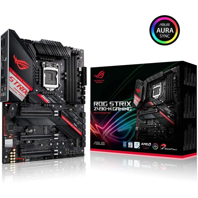 Asus - INTEL Z490 ROG STRIX Z490-H GAMING - ATX - Carte mère Intel