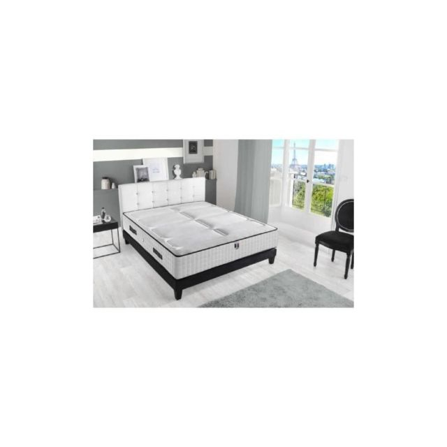 confort design ensemble matelas sommier 140x190 672 ressorts 30 cm 7