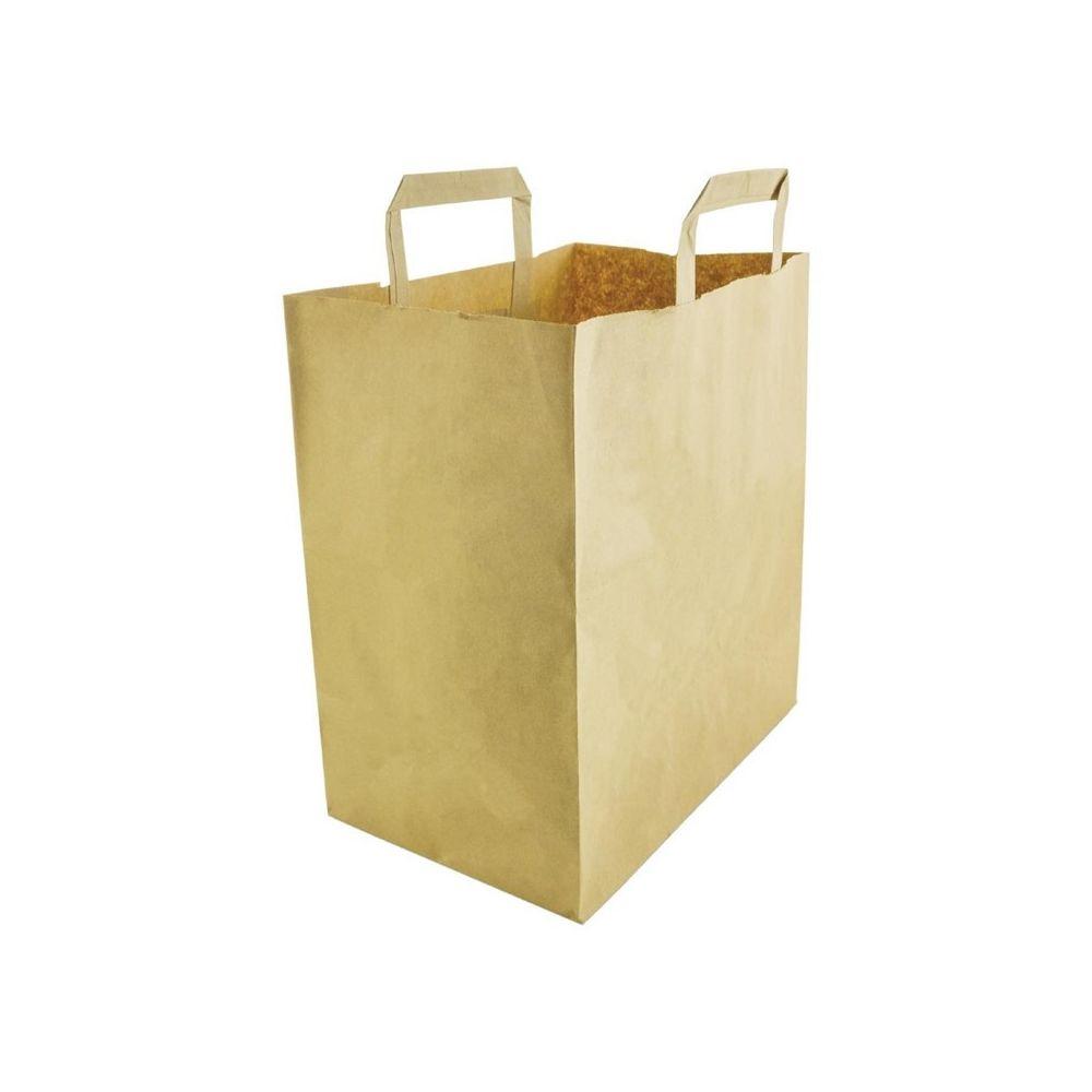 Materiel Chr Pro Sacs en Papier Recyclé Compostables Grands Modèles - Lot de 250 - Vegware - 1160