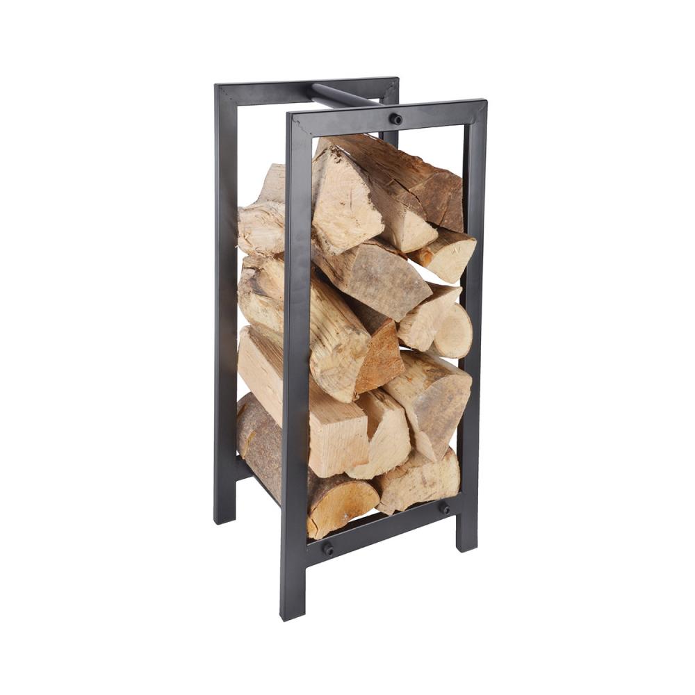 Esschert Design Range buche métallique rectangulaire, pour le stockage du bois 30 cm x 24 cm H 60 cm