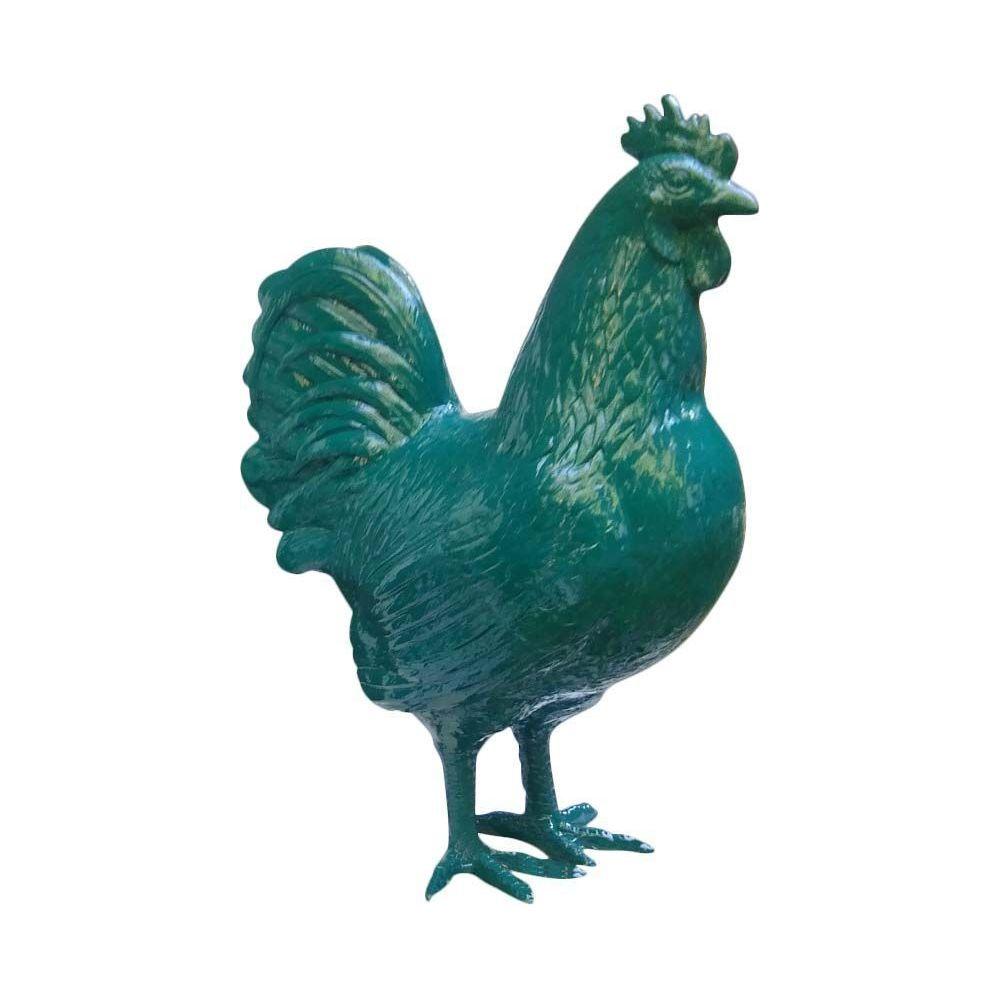 Texartes Coq de couleur en résine 38 cm