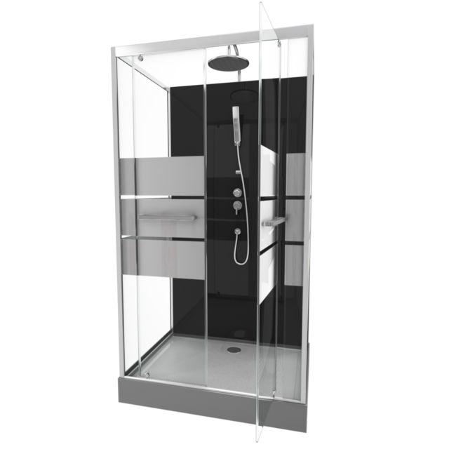 Aurlane - Cabine de douche rectangle 110x80x225cm - SCRATCHY 110 - Plomberie & sanitaire