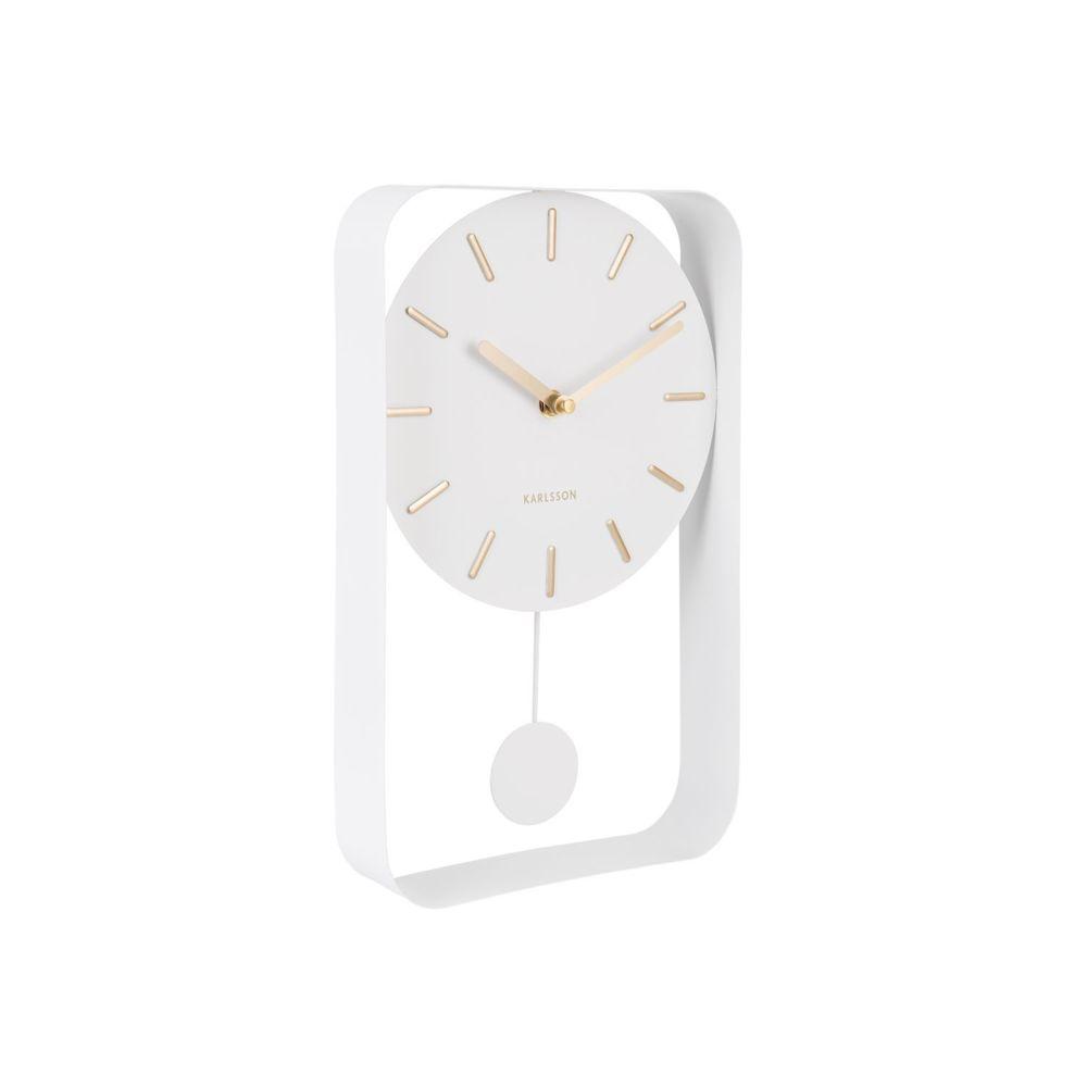 Karlsson Horloge design pendulum Charm - L. 20 x H. 32 cm - Blanc