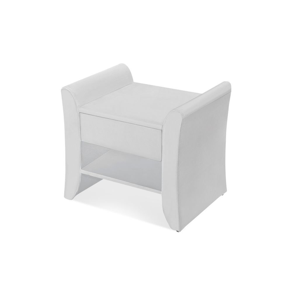Meubler Design Table de chevet NOVA - Table de nuit - Design - Blanc