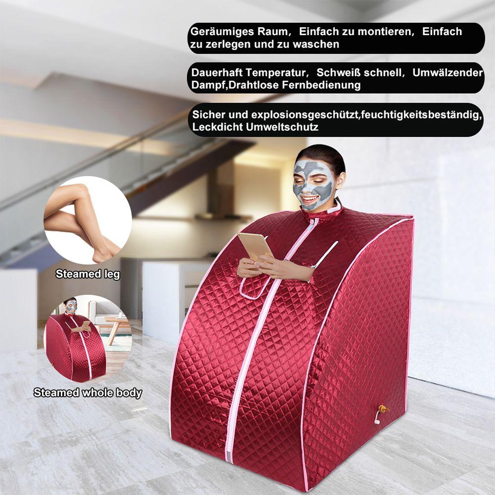 Jeobest Sauna Portable Personal Spa Detoxify Perdre du poids 98 x 70 x 80 cm 1.8L(Rouge)