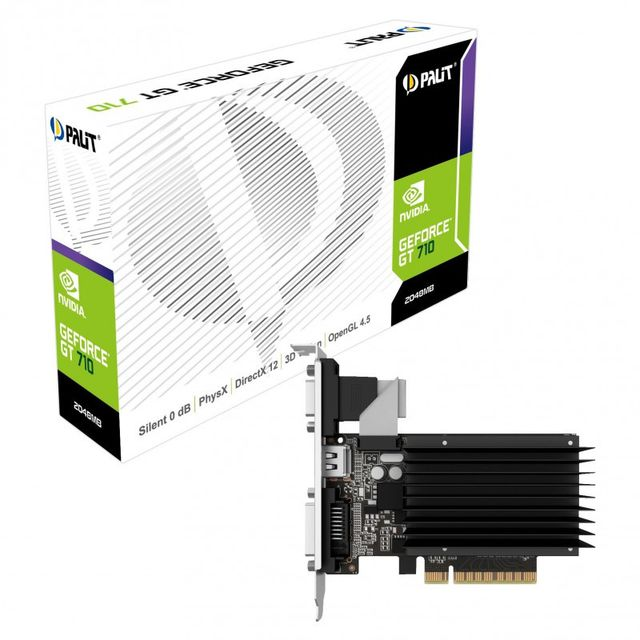 Carte Graphique NVIDIA Palit Carte graphique Palit GeForce GT 710, 2048 MB DDR3 - passiv