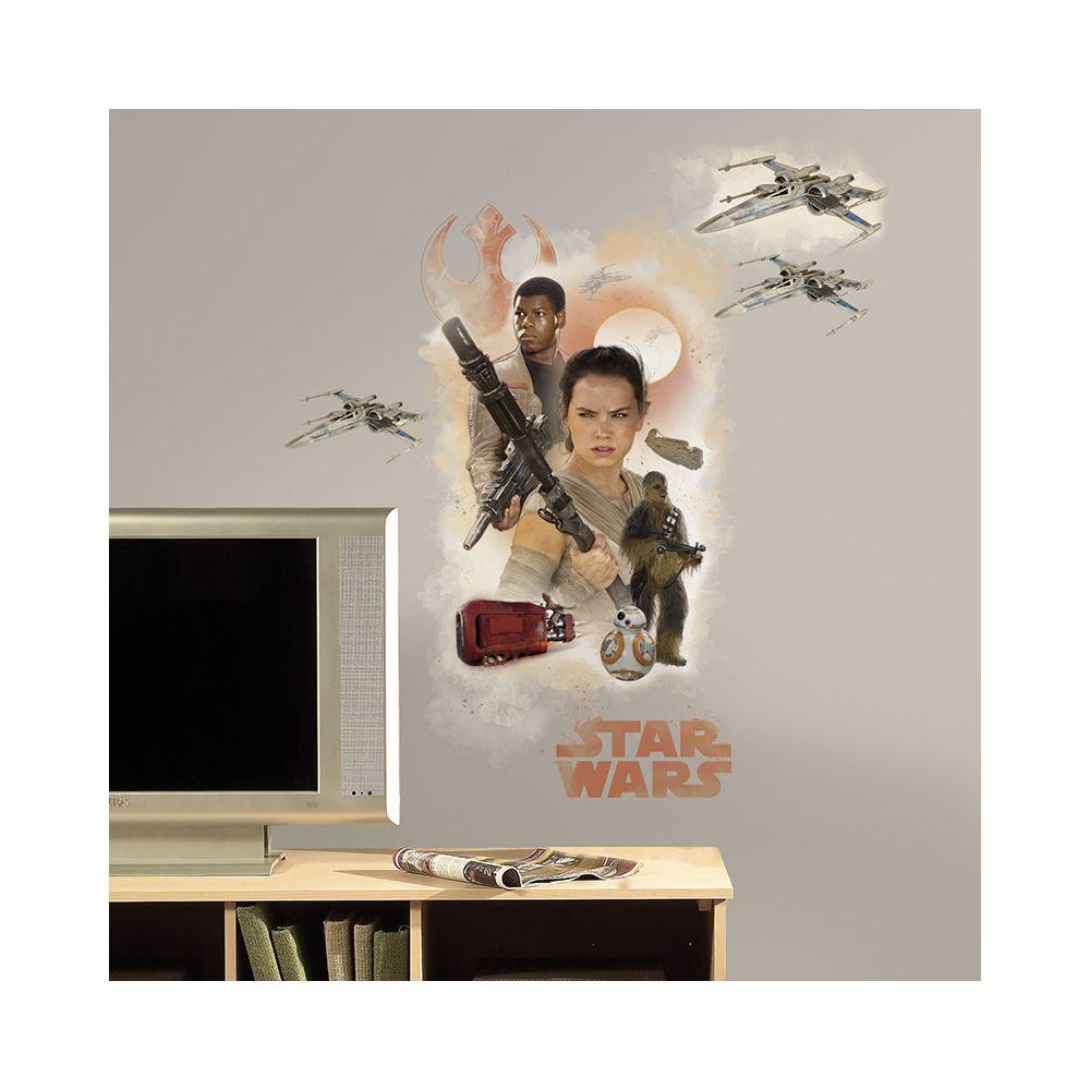 Mon Beau Tapis STAR WARS EP VII HERO BURST - Stickers repositionnables géants Star Wars Episode VII 75x82