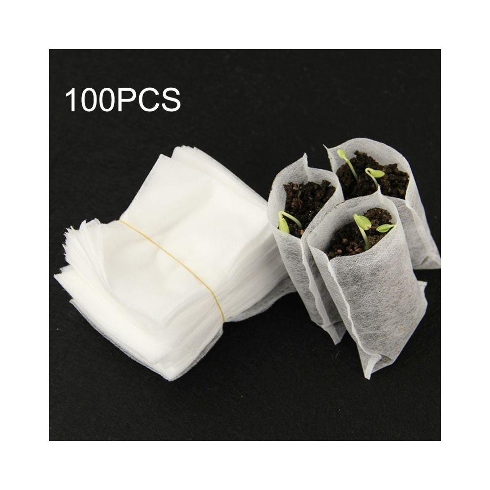 Wewoo Accessoire de jardinage Sacs de pépinière de 100 PCS Pépinière-Raising Bags de non-tissés environnementaux