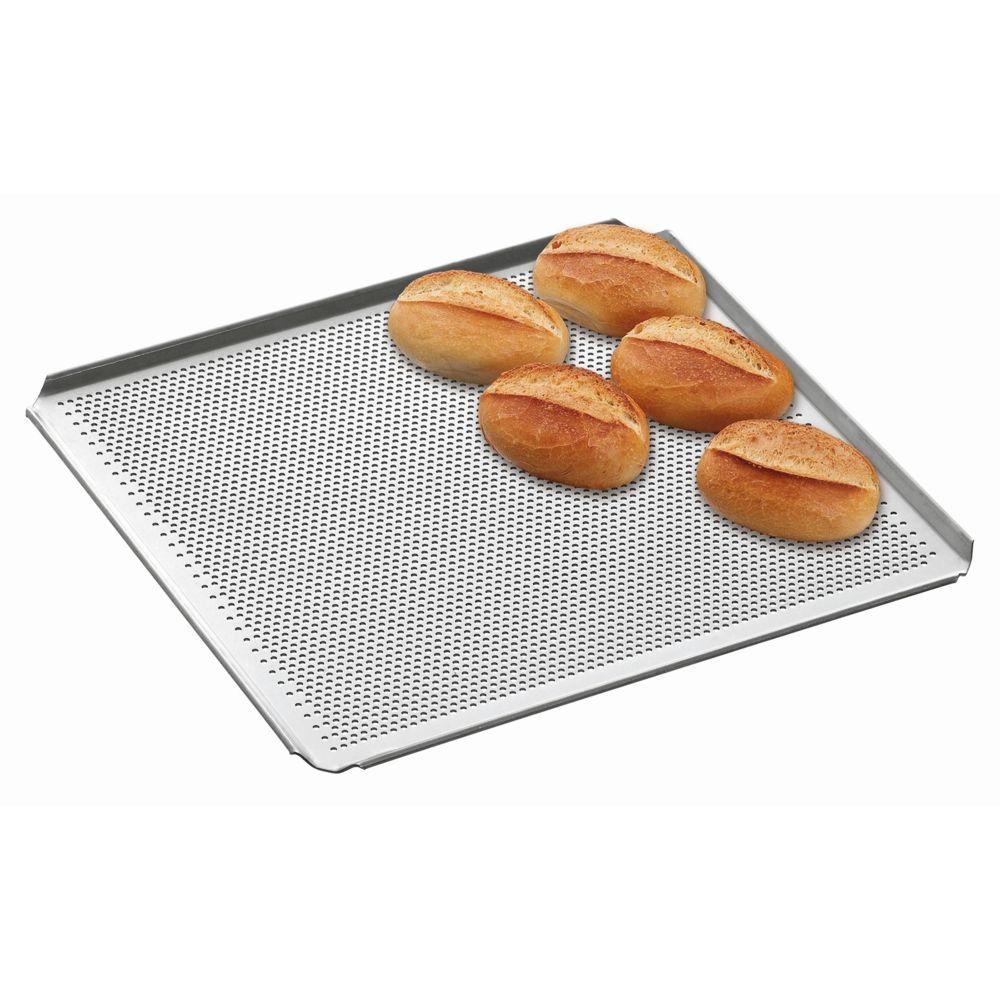 Bartscher Plaque perforee GN 2/3 perforation 3 mm 4 bords a plis inclines epaisseur 1,5 mm