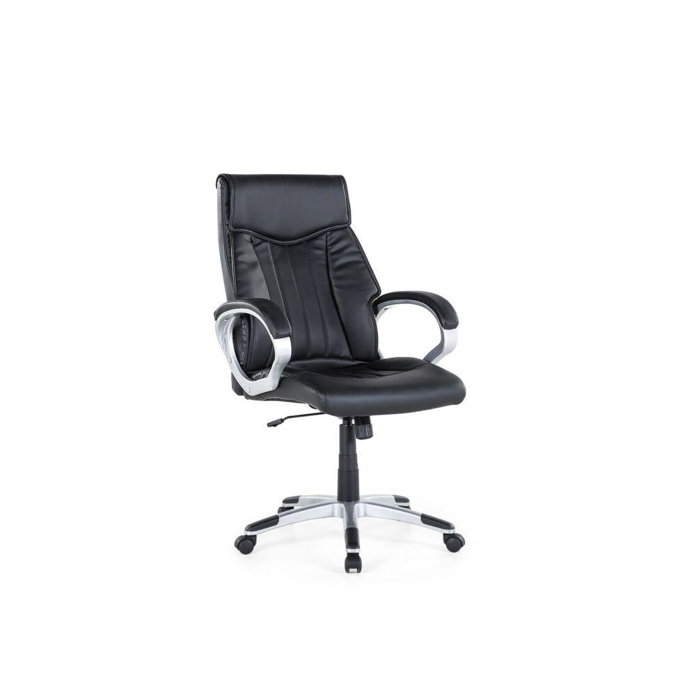 Beliani Beliani Chaise de bureau en simili-cuir noir TRIUMPH - noir