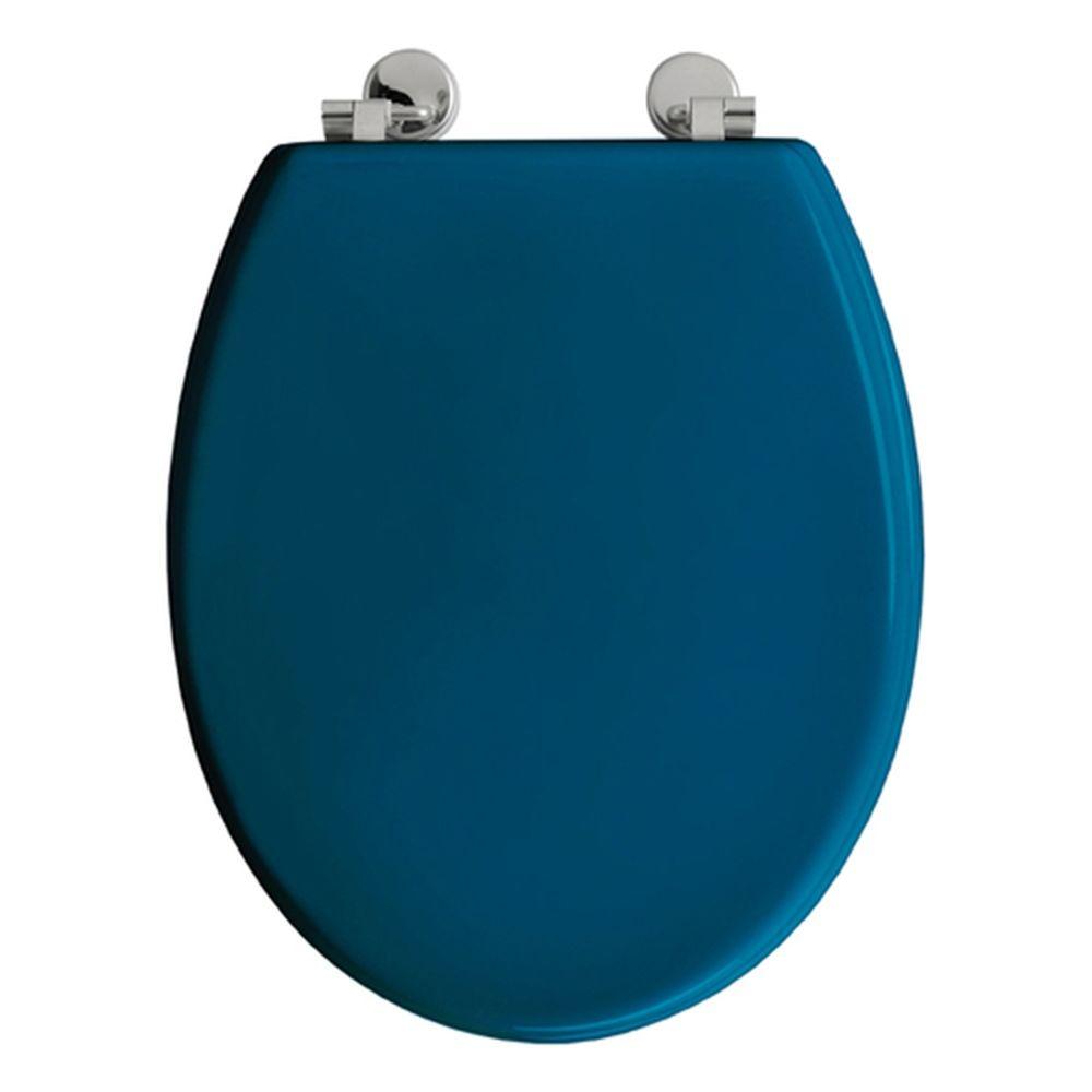 Allibert Abattant WC Boliva - Bois - Bleu Canard