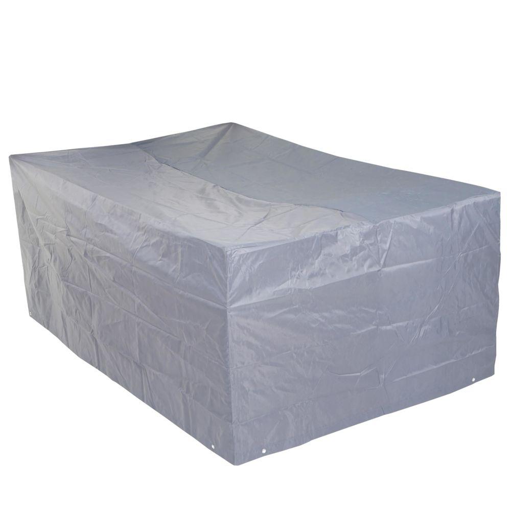 Mendler Housse de protection pour garniture de jardin, gaine de protection, gris ~ 75x255x120cm