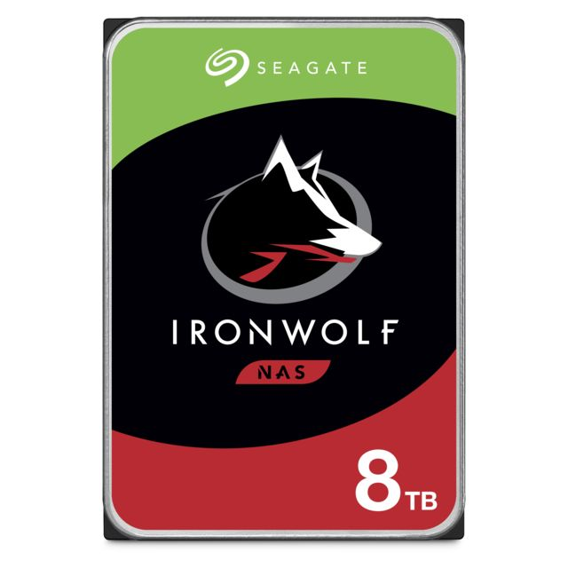 Seagate - Ironwolf 8 To - 3.5'' SATA III 6 Go/s - Cache 256 Mo - Disque Dur interne
