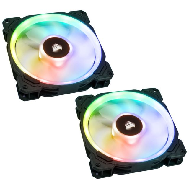 Corsair -  Corsair LL Series, LL140 RGB, 140mm Dual Light Loop RGB LED PWM Fan, 2 Fan Pack with Lighting Node PRO  - Ventilateur Pour Boîtier
