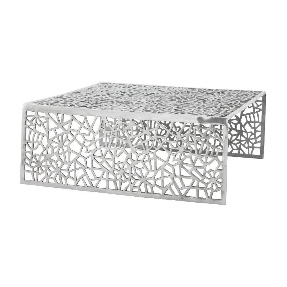 Alterego Table basse de salon 'ARANEA' en aluminium