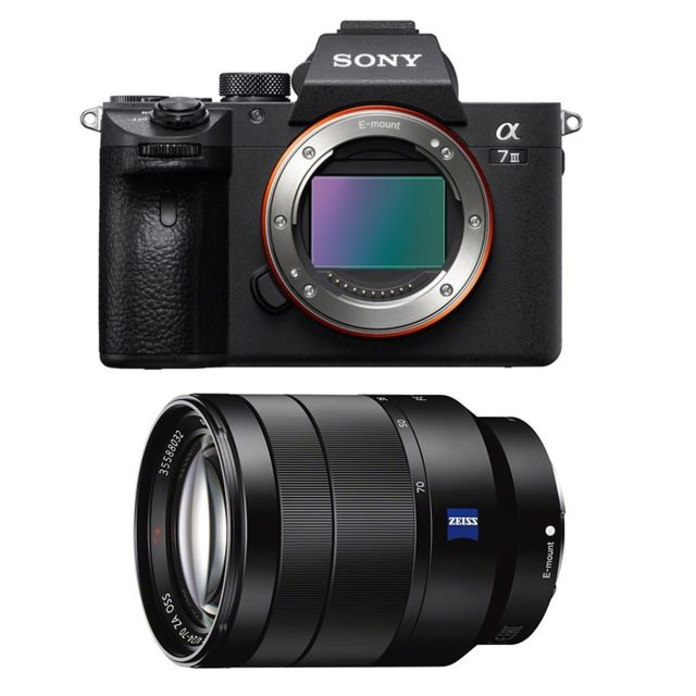 Sony - PACK SONY ALPHA 7 III + FE 24-70 f/4 ZEISS  - Pack appareil photo