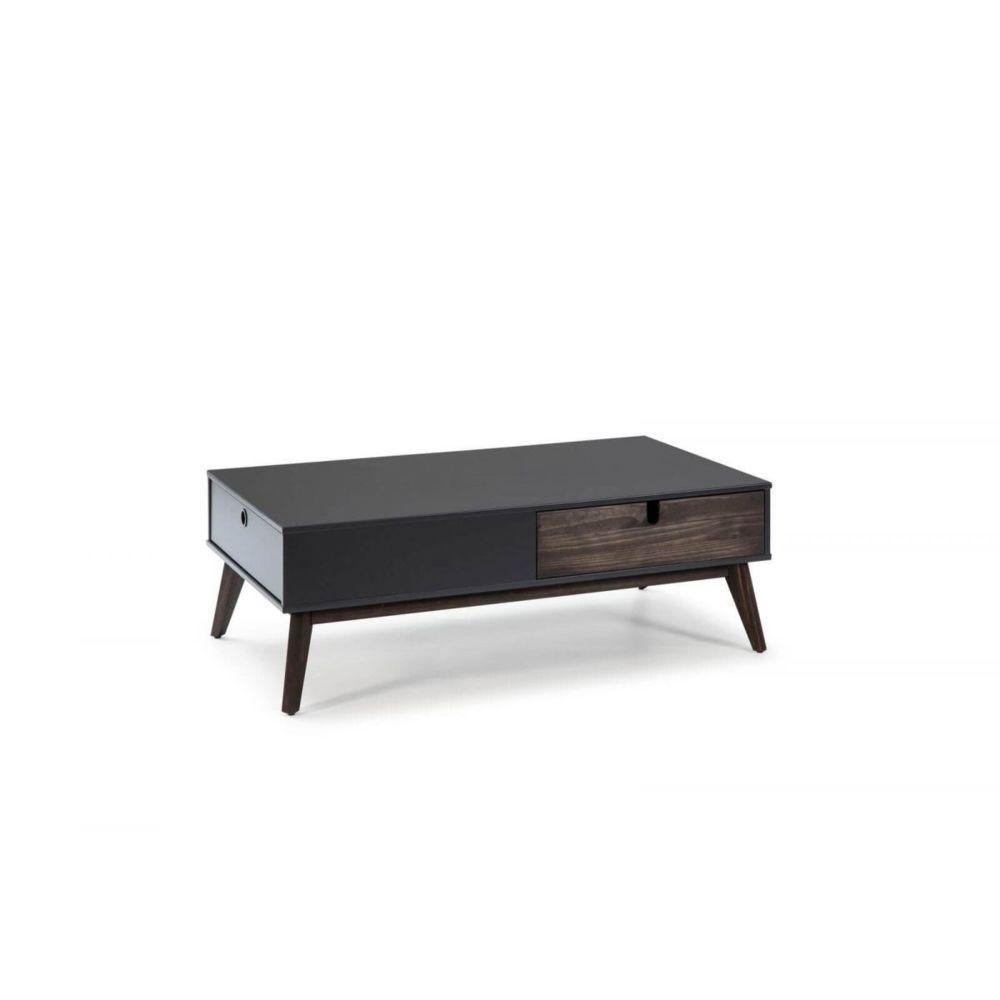 Bobochic BOBOCHIC Table basse YUGO gris anthracite / bois foncé