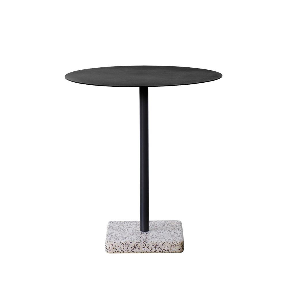 Hay Table de jardin Terrazzo - Terrazzo gris - rond Ø 70 cm - gris foncé