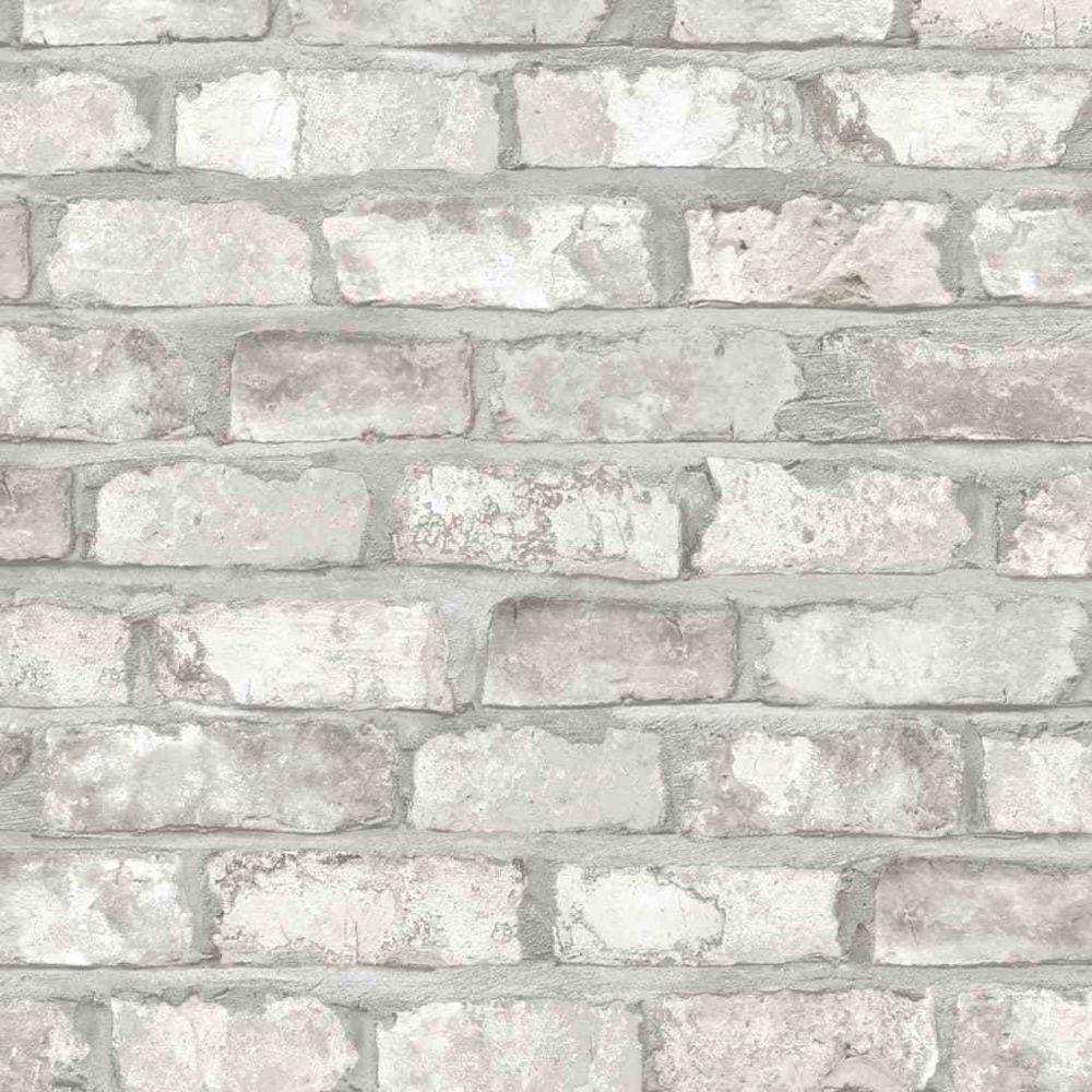 Dutch Wallcoverings DUTCH WALLCOVERINGS Papier Peint Briques Blanc Non-tissé Mur Décor Chambre