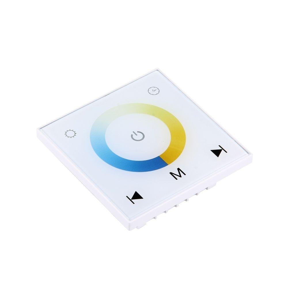 Wewoo SX-M102 Télécommande à écran tactile blanc à double canal LED, rétro-éclairage peut correspondre à la télécommande, DC 1