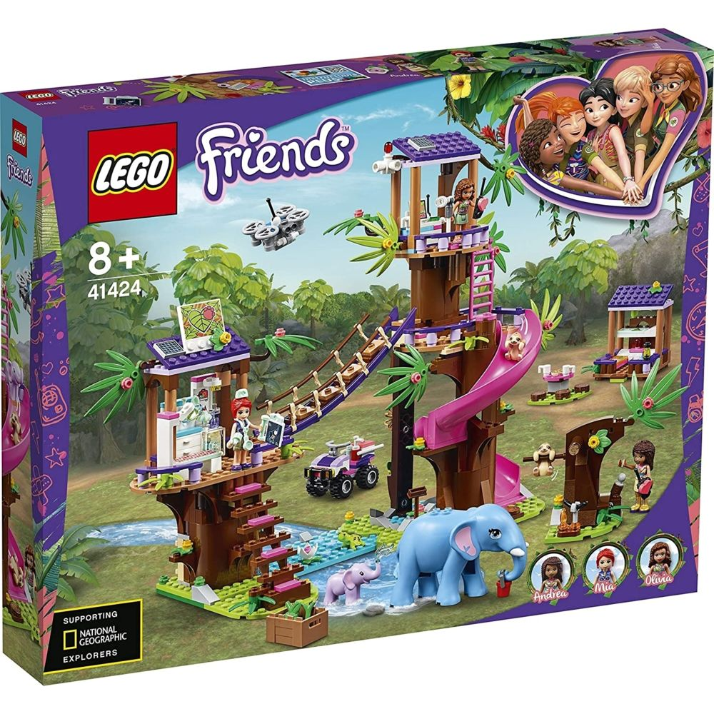 Lego Lego 41424 - La base de sauvetage dans la jungle