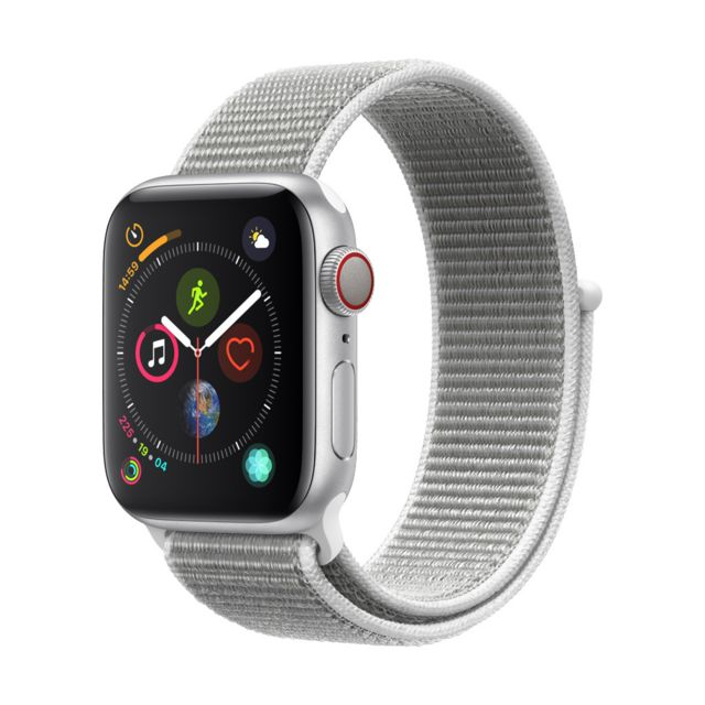 Apple - Watch Series 4 - 40mm - Alu Argent / Boucle Sport Coquillage - Apple Watch