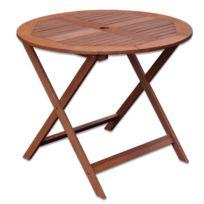 Soldes Table jardin bois ronde - 2e démarque Table jardin ...