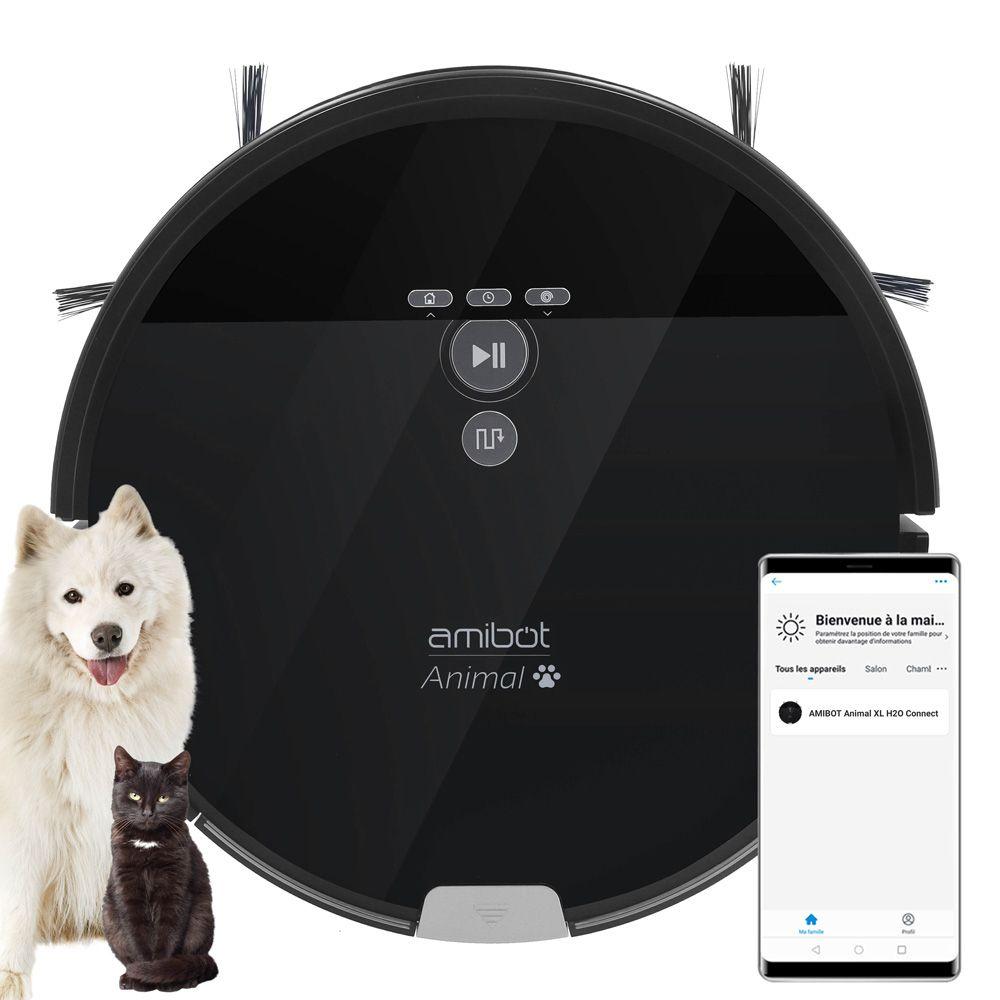 Amibot Robot aspirateur et laveur AMIBOT Animal XL H2O Connect spécial poils d?animaux de compagnie