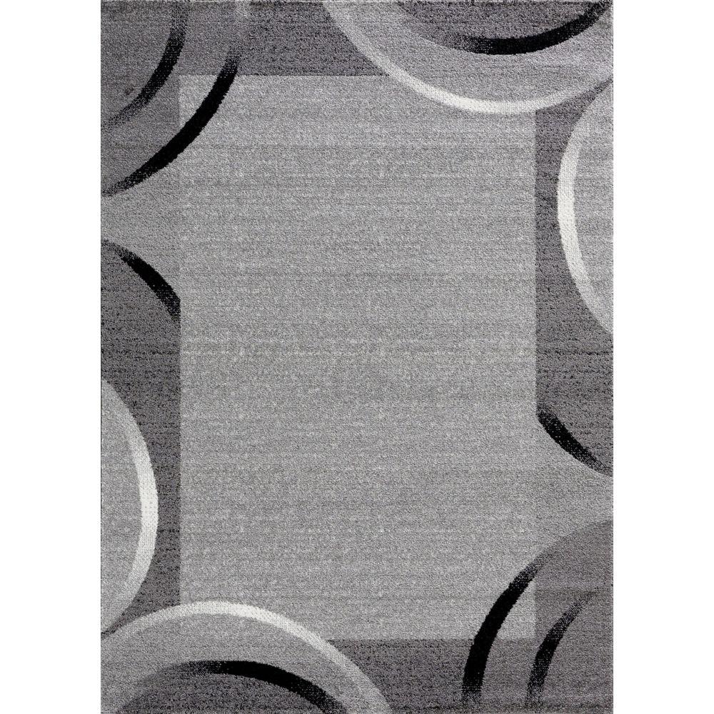 Koton Tapis de salon Santana gris, noir, blanc motifs arcs 60x110cm