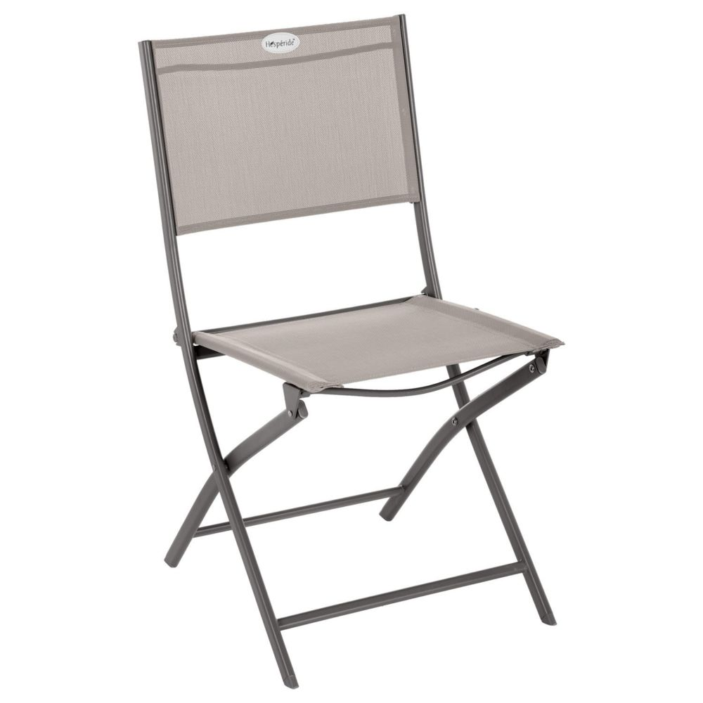 Hesperide Chaise de jardin pliable Modula - Acier et polyester - Taupe et gris