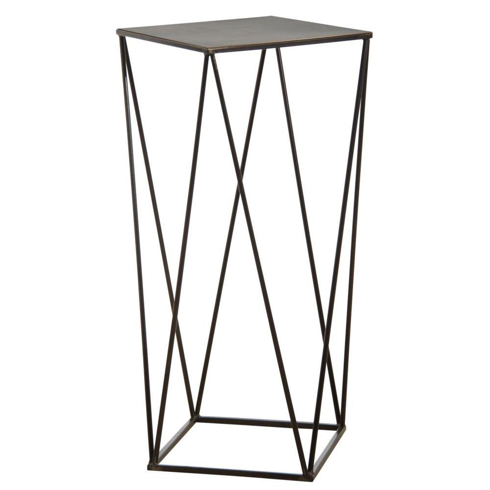 Aubry Gaspard Sellette design en métal noir