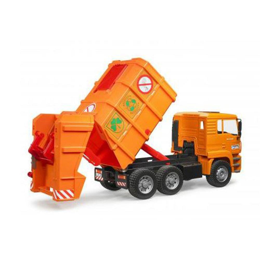 Bruder Bruder 02760 MAN TGA Orange, camion poubelles