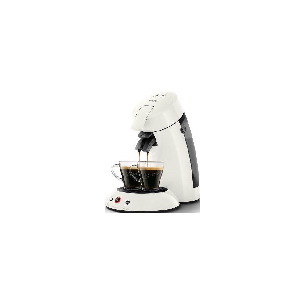Philips Cafetière à dosettes Senseo- HD6554/11 - Blanc titane