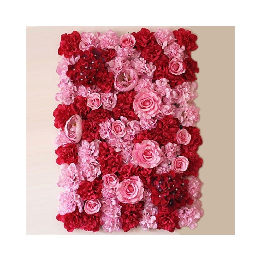 Wewoo Décoration Jardin Rose fleur pivoine hortensia artificielle cryptage bricolage mur de mariage photo fond, taille: 60 cm